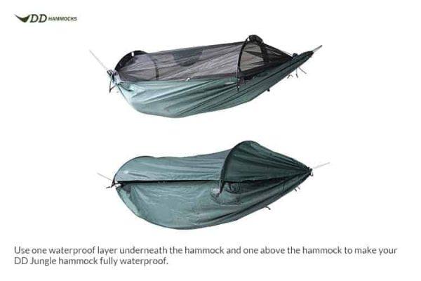 Dd canopy for superlight jungle hammock