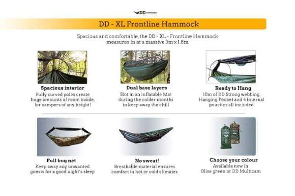 Dd - xl - frontline hammock - mc
