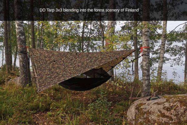 DD hammocks 3x3m tarp in MC multicamo