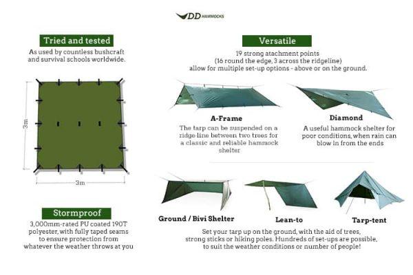 Dd hammocks tarp 3x3