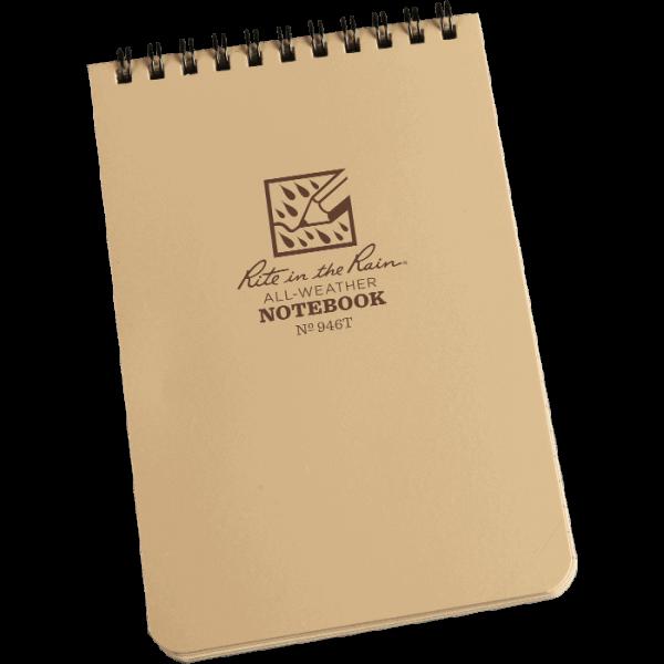 "Rite in the rain 4"" x 6"" wareproof notepad notebook"