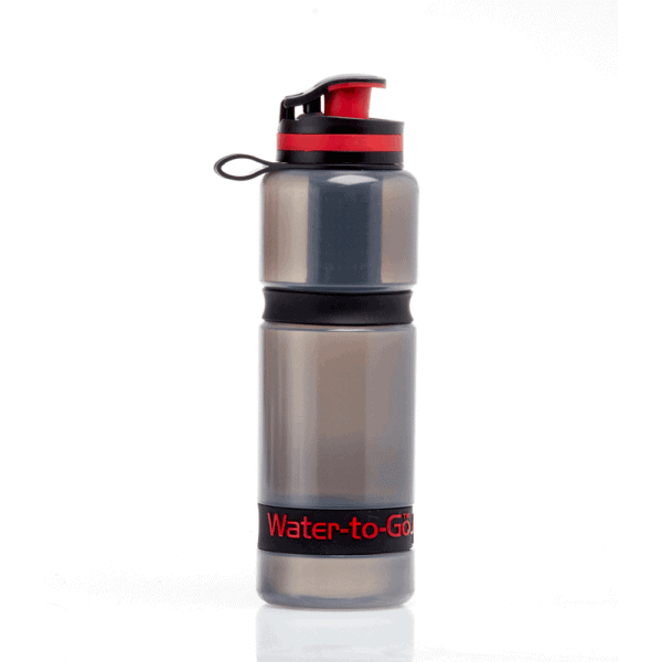 Water to go 75cl active 3-in-1 filter water bottle