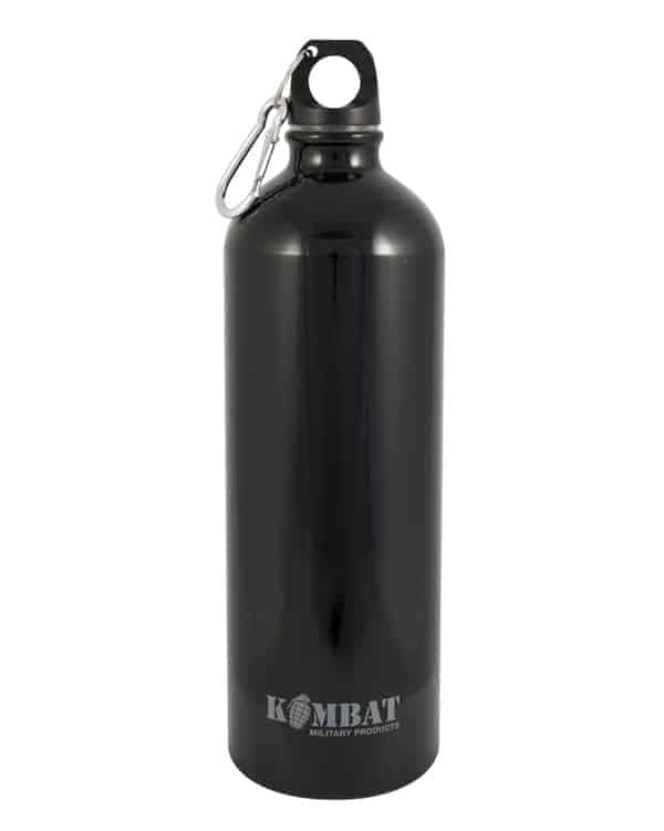 Kombat uk aluminium water bottle 1000ml - black