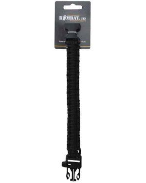 Kombat UK Paracord Survival bracelet and Whistle - Black