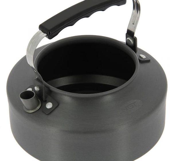 Ngt aluminium outdoor kettle - 1. 1 litre gun metal