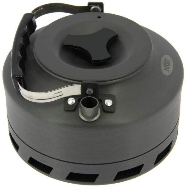 Ngt aluminium outdoor fast burn kettle - 1. 1 litre gun metal