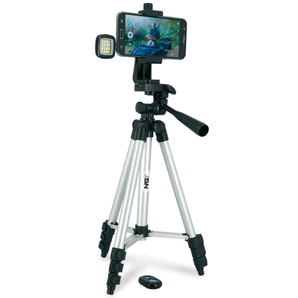 Ngt anglers selfie tripod - includes light and remote