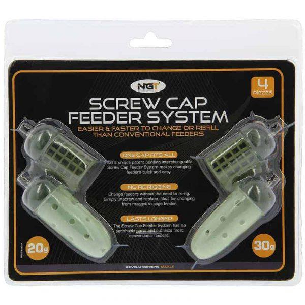 NGT 4 Pack NGT 'Screw Cap' Feeder Set 20 / 30g