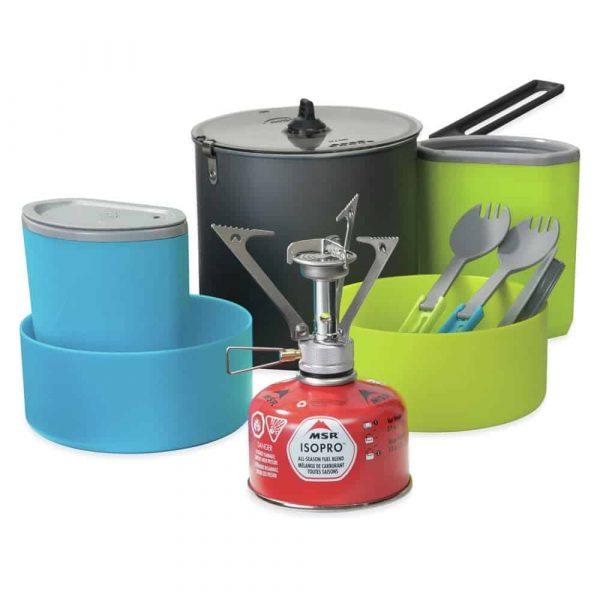 Msr pocketrocket® stove kit 2 person cook and eat kit