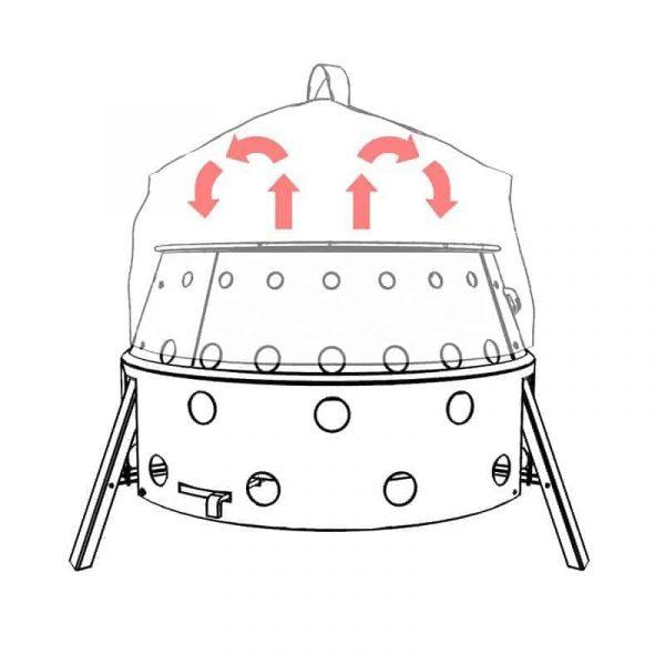 Petromax convection cap / lid