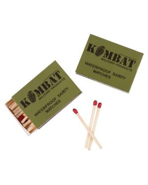 Kombat UK Waterproof Matches (Pack of Four)