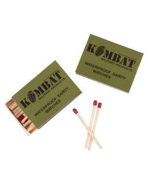 Kombat UK Waterproof Matches (Pack of Four)