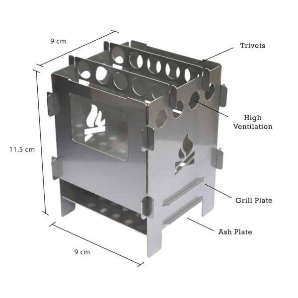 Bushcraft essentials bushbox set outdoor stove