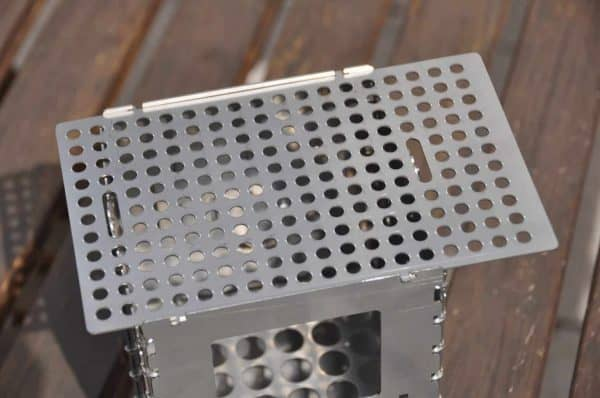 Grill plate for bushbox
