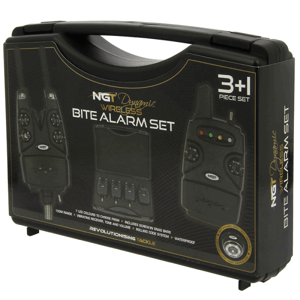 NGT Dynamic 3pc Wireless Alarms - Adjustable Volume, Tone, Sensitivity and light with Receiver