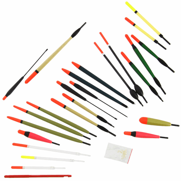 Ngt float set - 24pc mixed float and accessory set in tube