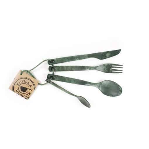 Kupilka eco cutlery set conifer green