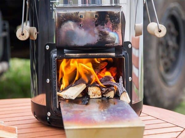 Petromax rocket stove portable wood burning camp stove