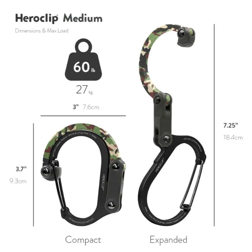 Heroclip hybrid gear clip - woodland (various sizes)