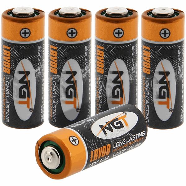 Ngt lrv08 batteries x 5 alkaline(12v) batteries