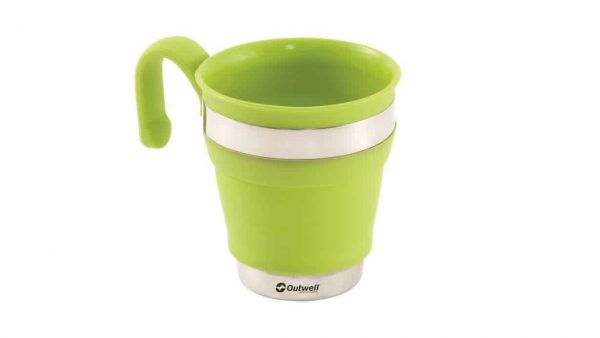 Outwell collaps mugs lime green