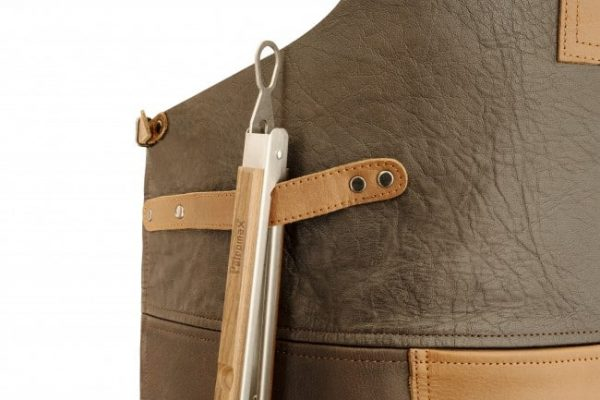 Petromax buff leather apron with neck strap