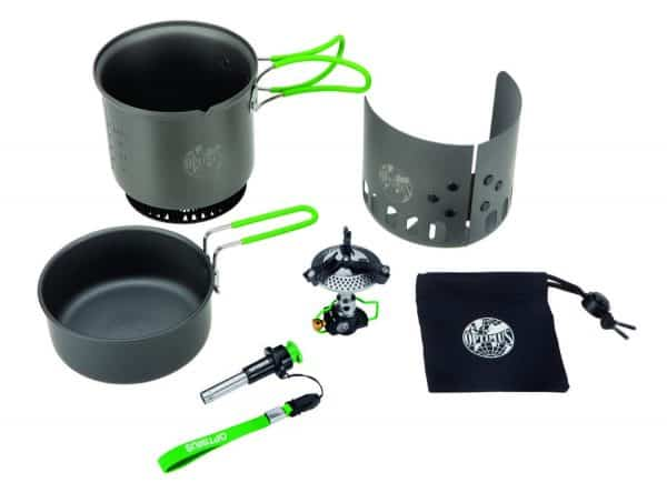 Optimus elektra fe gas cookset with pans
