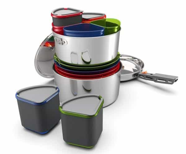 Gsi glacier stainless camper cook and eat set