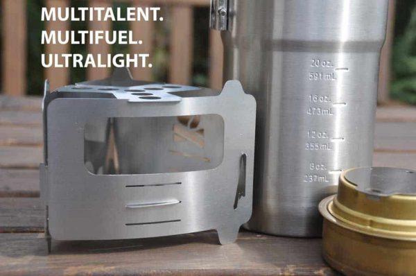 Be bushbox ultralight outdoor pocket stove