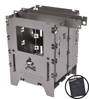 DE Bushbox LF Titanium Outdoor Stove
