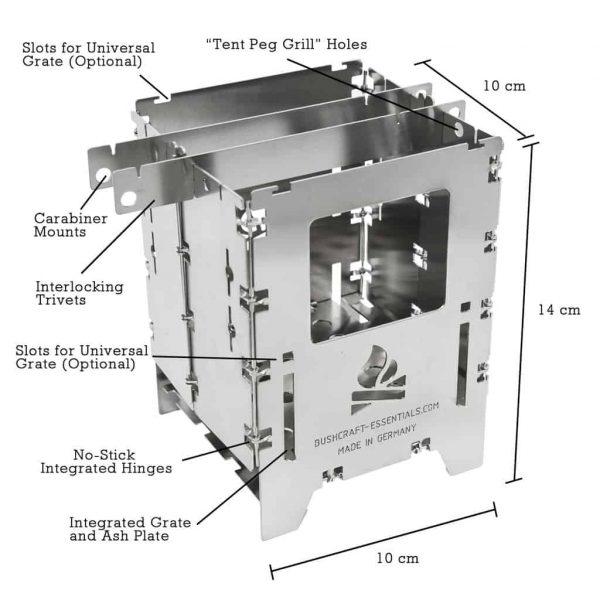 De bushbox lf titanium outdoor stove