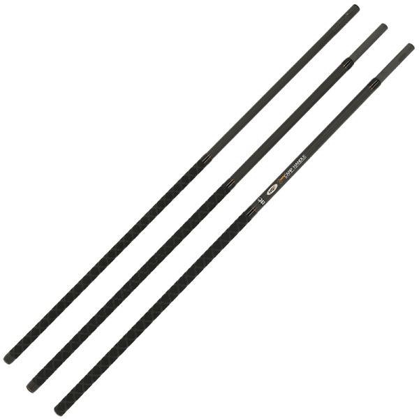 Ngt dynamic 3pc net handle - 2. 6m, 3 section carbon net handle