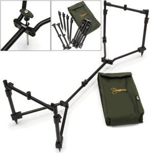 NGT Dynamic Pod - 3 Rod Compact Pod Fully Adjustable Inc Buzz Bars with Case