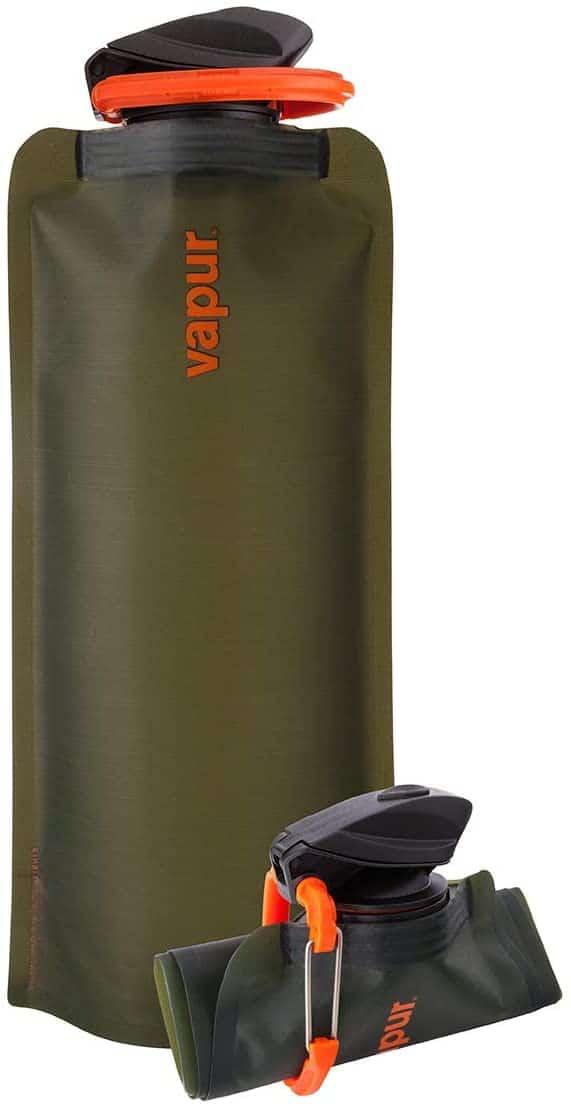 Vapur wide mouth 700ml folding water bottle (various colours)