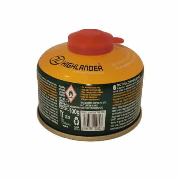 Highlander 100g stove gas valve cartridge, 100g