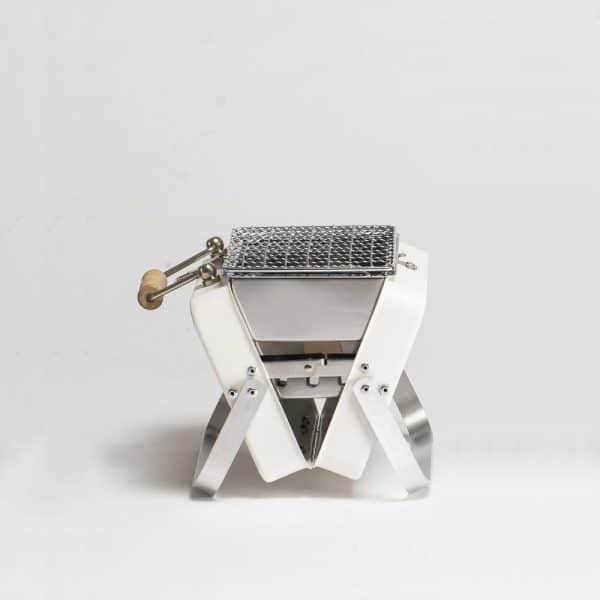 Kenluck mini grill / bbq – athena matte white