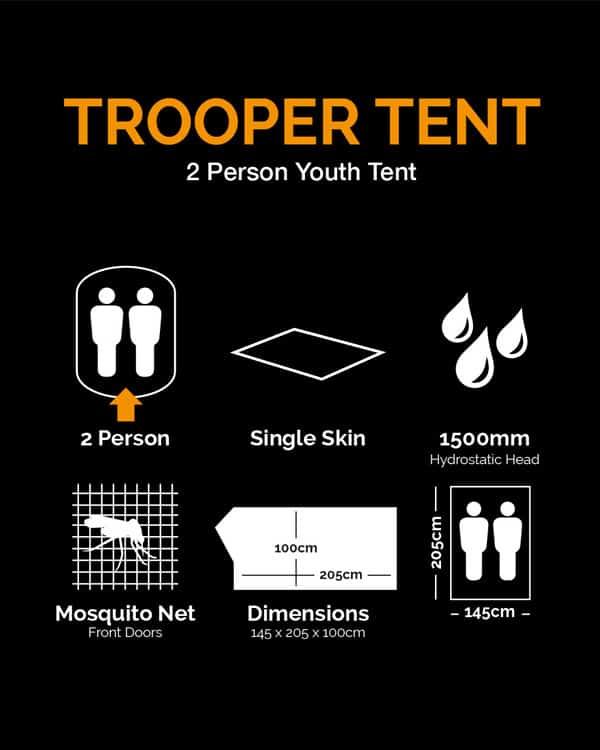 Kombat uk trooper tent - btp (2 person, single skin)