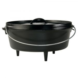 "Lodge 6 Quart Camp Dutch Oven 12"" DIA X 3.74"" (30.5 DIA X 9.5CM)"