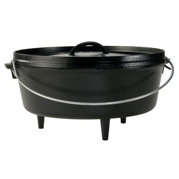 "Lodge 6 quart camp dutch oven 12"" dia x 3. 74"" (30. 5 dia x 9. 5cm)"