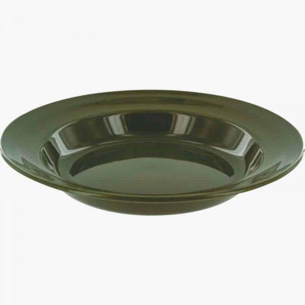 Highlander 22cm deep plate, olive