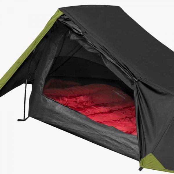 Highlander blackthorn 1 lightweight solo backpacking tent black