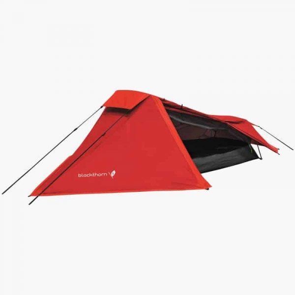 Highlander blackthorn 1 lightweight solo backpacking tent red