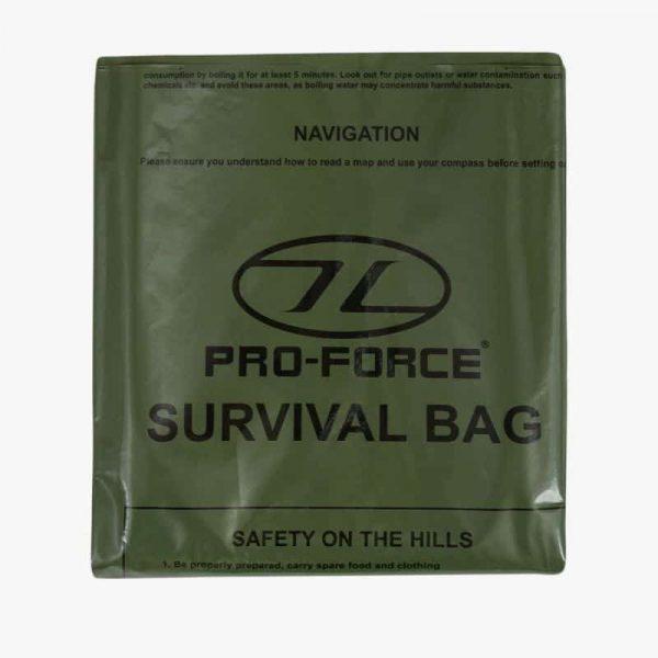Highlander emergency survival bag green