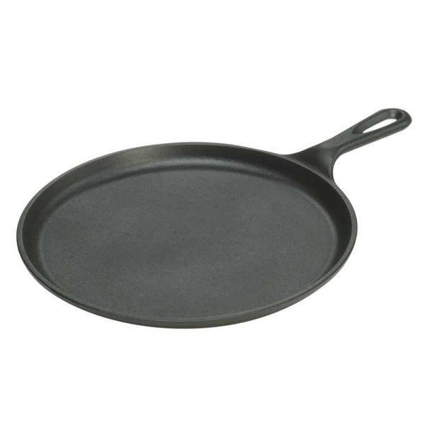 "Lodge castle iron round pancake skillet 10. 5"" 26cm"