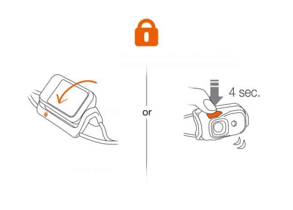 Petzl bindi compact headlamp | torch - orange