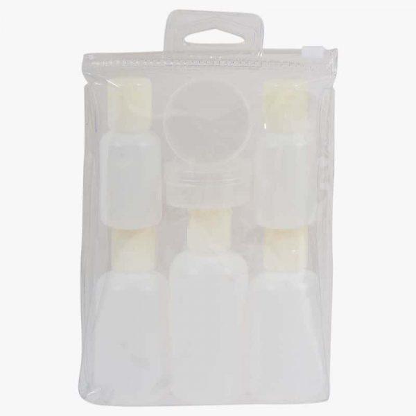 Travel size liquid storage kit