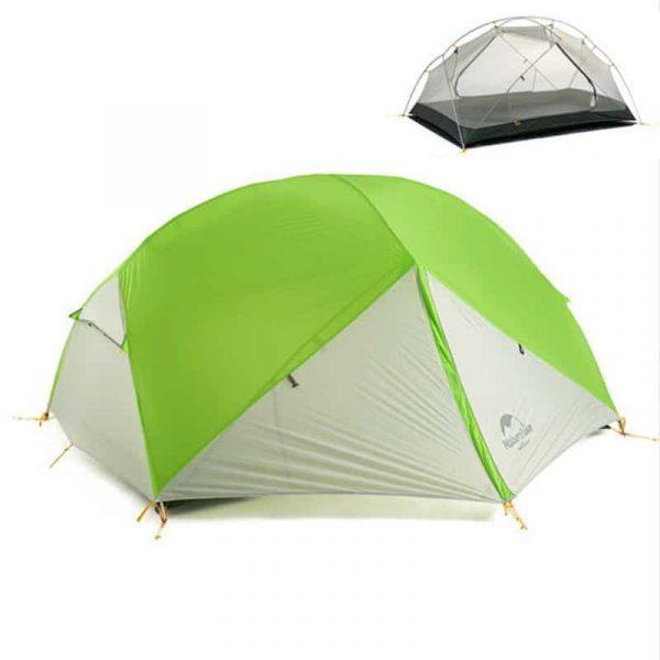 Naturehike 20d mongar ultralight 2 man tent (various colours) with mat