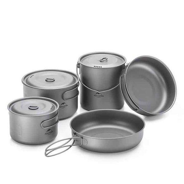 Naturehike titanium lightweight cookware