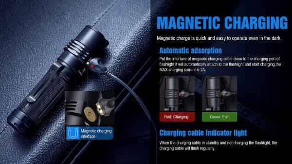 Trustfire mc3 edc magnetic rechargeable led flashlight 2500lumens