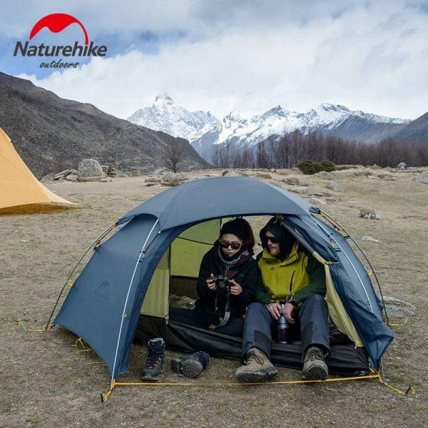 Naturehike cloud peak 2 man tent 4 seasons 15d – blue with mat